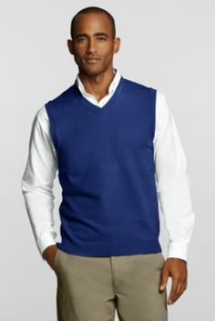 7f9ae0d86b5ac2 Men s Performance V-neck Sweater Vest from Lands  End - Light Green  Gentlemen Wear