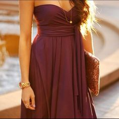 Cute summer dress...maybe i can modify my BM dress to look like this