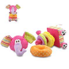 Baby Plush Blocks Toy Soft Play Animals Cloth Plush Building Blocks Early Educational Toy Colorful Baby Rattles Set LYJ052