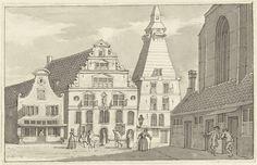 Het Klokkehuis en Gasthuis te Hoorn, Cornelis Pronk, 1809