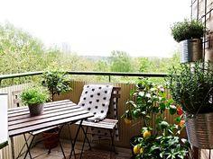 Pequeñas terrazas y balcones