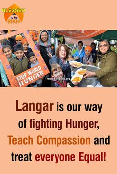 #BlessedTobeSikh Langar is our way of fighting Hunger, Teach Compassion and treat everyone Equal! -Bradford Sikhs Sikh community gave shoppers and workers free vegetarian food as a way of telling people more about their faith. In less than three hours, hungry passers-by devoured 1,500 samosas, a vat full of fried bread puris and two giant pans of chickpeas courtesy of the Langar service.