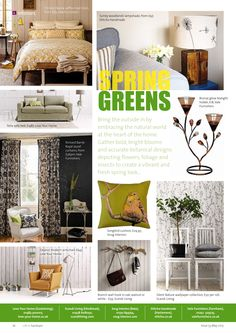 ~ Spring greens ~ Bring the outside in this spring... #interiors #inspiration #ideas #spring #greens #Farnham #Surrey