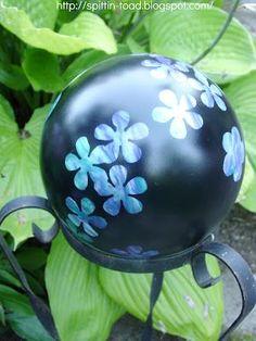 Bowling Balls Gazing Balls Garden Amp Yard Art On