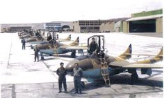 Chilean Air Force DH-115 Vampires at Cerro Moreno Air Base, Antofagasta.