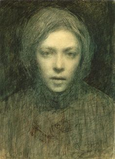 Ellen Thesleff (Finnish artist) 1869 - 1952 Omakuva (Self-Portrait)She became a member of a group of Finnish artists influenced by the Symbolist movement in Paris. Helene Schjerfbeck, Self Portrait Drawing, Portrait Art, Illustration Art, Illustrations, Figurative Art, Female Art, Painting & Drawing, Art History