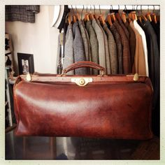 Leather Gladstone Bag, for sale at Bobby & Dandy