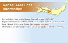 Kansai Area Pass Information Kansai Airport, Airport Express, Wakayama, Shiga, Osaka, Kyoto, Train, Japan, Strollers