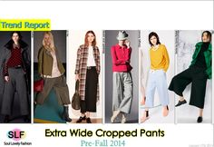 Extra Wide Cropped #Pants #Fashion Trend For Pre-Fall 2014 #Crop #PreFall2014 #Trends