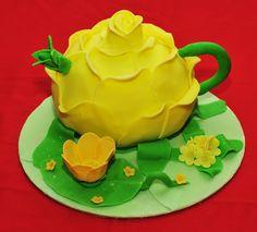 tea pot cake | Rose Teapot Cake