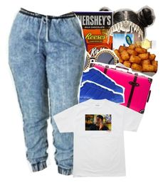 """""""""""Let's Take a Trip"""" x Jeremih"""" by trillestqueen ❤ liked on Polyvore featuring Hershey's, Globe-Trotter, adidas Originals and River Island"""