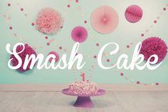 Smash Cake sesión #smashcake #pink #cake #infantil #tarta # sesionfotos #baby #niño #one #cakesmash #mint