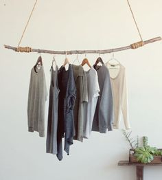 I wish I had a great big room with lots of windows so I could display all my clothes like this!
