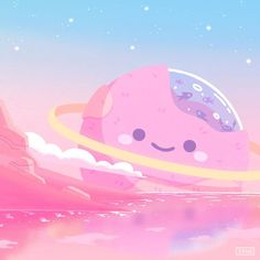 "☁️😴 xmio | DTIYS-Event running on Instagram: ""kawaii planet 🌤🌍✨"" Cute Kawaii Drawings, Kawaii Art, Kawaii Wallpaper, Cute Wallpaper Backgrounds, Pretty Art, Cute Art, Cute Illustration, Digital Illustration, Arte Copic"