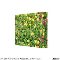 "20"" x 16"" Flower Garden Wrapped Canvas Canvas Print"