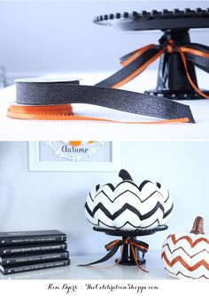 Ribbon LOVE & Glitter Pumpkins