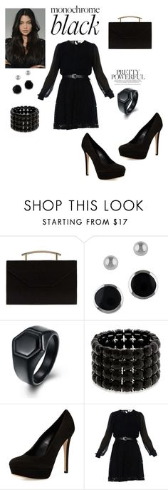 """""""Women in Black"""" by jfkayla ❤ liked on Polyvore featuring MANGO, Lord & Taylor, Erica Lyons, Charles David and MICHAEL Michael Kors"""