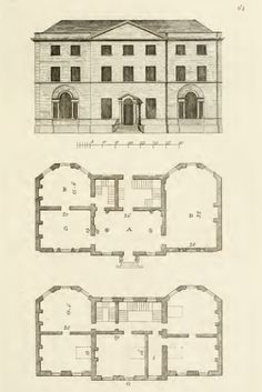 Easton neston plan main floor more or less as hawksmoor for 18th century house plans