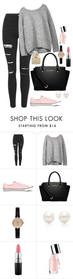 """""""Untitled #152"""" by marr-neubauerova on Polyvore featuring Topshop, Converse, MICHAEL Michael Kors, Barbour, Tiffany & Co., MAC Cosmetics and Marc by Marc Jacobs"""