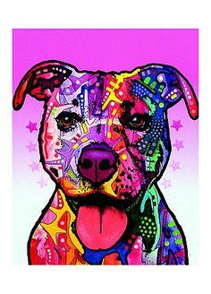 Dean Russo Dogs Pitbull Print