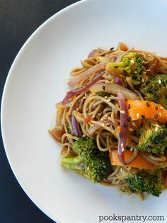 Soba Noodles and Stir-Fried Vegetables