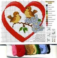 Схемы для вышивки сердечек. Вышивка крестиком сердечек.   Все о рукоделии: схемы, мастер классы, идеи на сайте labhousehold.com