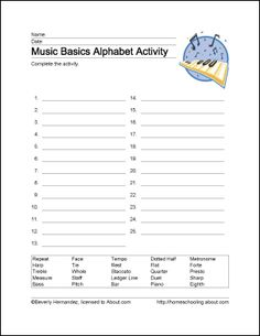 learn basic musical terms with these 10 printouts. Black Bedroom Furniture Sets. Home Design Ideas