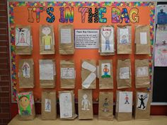 It's In The Bag . Paper Bag Character Study - my students' favorite book report to complete! Reading Lessons, Reading Strategies, Reading Activities, Reading Skills, Teaching Reading, Teaching Ideas, Library Skills, Enrichment Activities, Comprehension Strategies