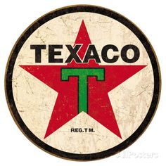 Texaco '36 Round Tin Sign at AllPosters.com