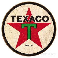 Texaco '36 Round Cartel de chapa en AllPosters.es