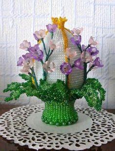 Пахальное яйцо Весенний букетик | biser.info - всё о бисере и бисерном творчестве