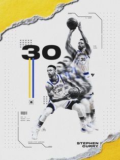 In December I decided to take a player from each NBA team and make a poster design for them. This was a personal project mainly for fun, but also to improve my photoshop skills. Sport Shirt Design, Sports Graphic Design, Graphic Design Posters, Graphic Design Typography, Modern Graphic Design, Golden State Warriors, Stephen Curry Poster, Nba Background, Basketball Posters