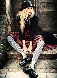 Star of Carrie Gabriella Wilde by Ellen Von Unwerth for Vogue Italia