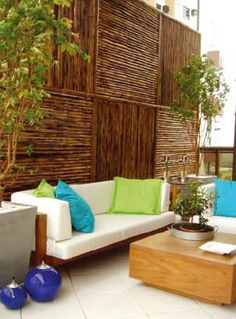 Muro de bambu.