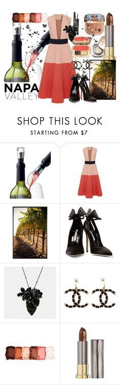 """""""Love is in the Air"""" by fiohelston ❤ liked on Polyvore featuring Dolce&Gabbana, Menu, Lela Rose, Pottery Barn, Brian Atwood, Coach, Chanel, NYX, Urban Decay and napa"""