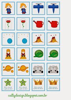Quebra Cabeça e Jogo da Memória Personalizados para Imprimir - CALLY'S DESIGN-Kits Personalizados Gratuitos Little Prince Party, The Little Prince, Antique Nursery, Prince Nursery, Sheep Nursery, Prince Birthday Party, Baby Shawer, Nursery Letters, Memory Games