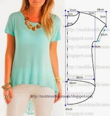 Resultado de imagem para moldesedicasmoda blusas
