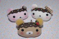 Cute Kawaii Bear Ice Cream Plushies Cell Phone by Gitanaflipflops, $9.50