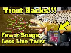 Pulling your hair out combating line twist? These rigging methods will put more trout on your stringer. And show you how to reduce line twist! You'll catch m. Carp Fishing Rigs, Trout Fishing Tips, Pike Fishing, Fishing Knots, Best Fishing, Fly Fishing, Fishing Tricks, Fishing Stuff, Fishing Adventure