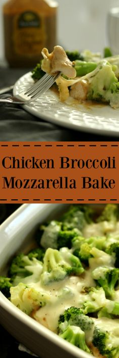 chicken broccoli mozzarella bake- simple, only 6 ingredients and unforgettable flavor. Your family will love it! |wordslikehoneycomb.com