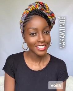 Hair Wrap Scarf, Hair Scarf Styles, Curly Hair Styles, Natural Hair Styles, Scarf Head Wraps, African Hair Wrap, African Head Wraps, African Hairstyles, Headband Hairstyles