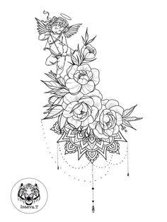 Ideas tattoo old school flower rose tat for 2019 Tattoo Femeninos, Body Art Tattoos, Girl Tattoos, Tattoos For Guys, Sleeve Tattoos, Muster Tattoos, Schulter Tattoo, Marquesan Tattoos, Inspiration Tattoos