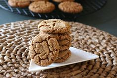 Molasses crinkles: A classic crinkle-top cookie that's chewy. Rolled in sugar before baking for a lovely sparkly top.