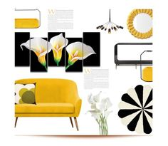 """Lilies in the Dark'"" by dianefantasy ❤ liked on Polyvore featuring interior, interiors, interior design, home, home decor, interior decorating, PBteen, Orla Kiely and Serena & Lily"