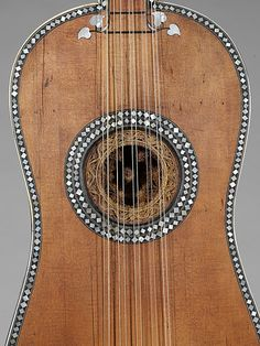 Guitar made by Giacomo (Jacob) Ertel, late century in the Musical Instruments Department