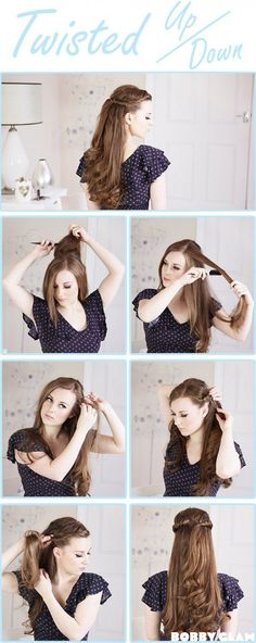 Hairstyle Tutorials for Long Hair | 14 Stunning DIY Hairstyles For Long Hair | Hairstyle Tutorials, check it out at http://makeuptutorials.com/14-stunning-easy-diy-hairstyles-long-hair-hairstyle-tutorials/