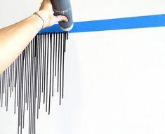 Ideas for bathroom art diy canvas projects Diy Wall Painting, Drip Painting, Diy Wall Art, Diy Wall Decor, Diy Home Decor, Wall Decorations, Painting Canvas, Wall Paintings, Interior Painting