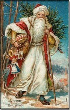 Free Christmas Cards: Victorian Santa Claus · All Things Christmas Vintage Christmas Images, Old Christmas, Old Fashioned Christmas, Christmas Scenes, Victorian Christmas, Father Christmas, Vintage Holiday, Christmas Pictures, Christmas Greetings