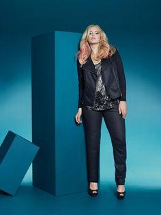 coated skinny jeans, designer jeans, plus size, addition elle