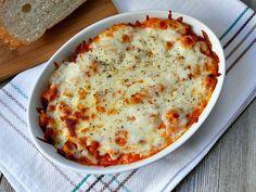 Easy Two-Cheese Baked Rigatoni Recipe Rigatoni Recipes, Baked Rigatoni, Meat Recipes, Pasta Recipes, Baking Recipes, Yummy Treats, Yummy Food, Delicious Recipes, Pasta Casserole